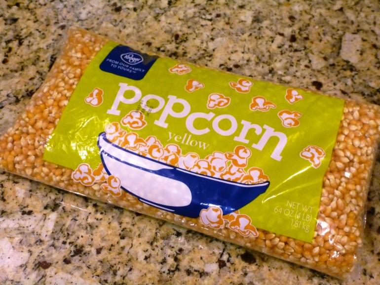 bagged popcorn