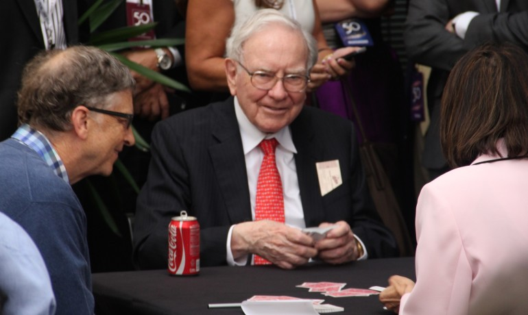 Who needs a lot of money to have fun?  These billionaires only need a pack of cards.