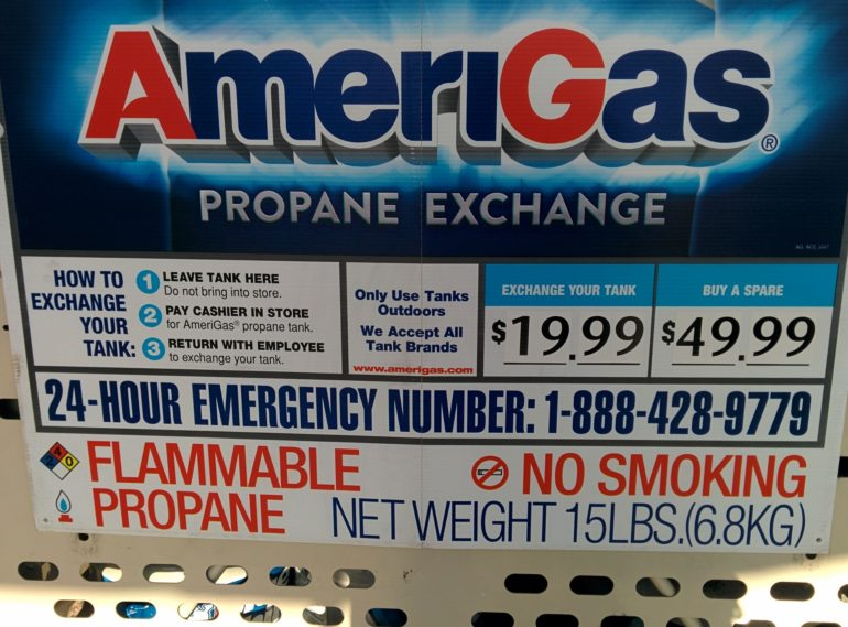 Propane exchange detail