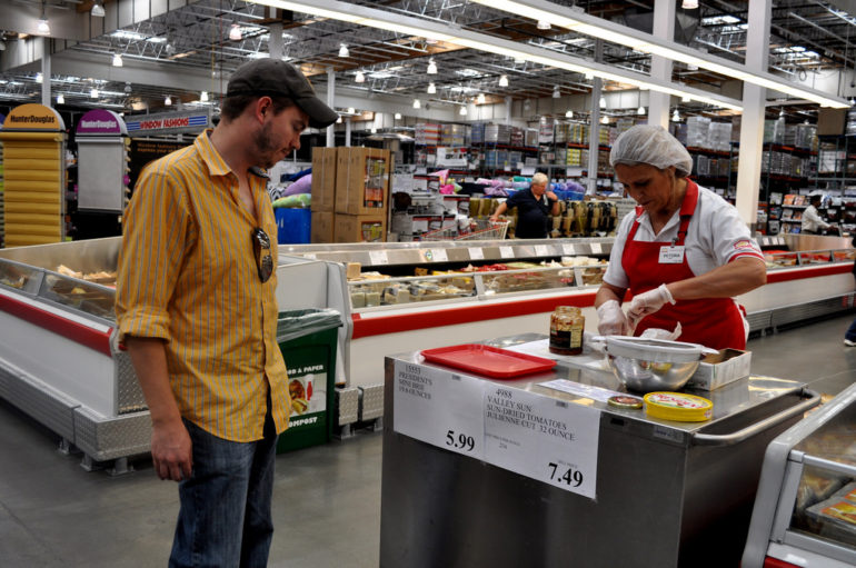 Costco samples are a perfect example of reciprocity.