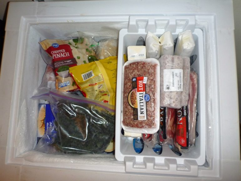 Organized chest freezer