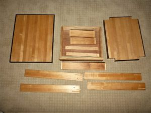 Disassembled side table