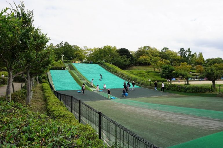 giant green slide