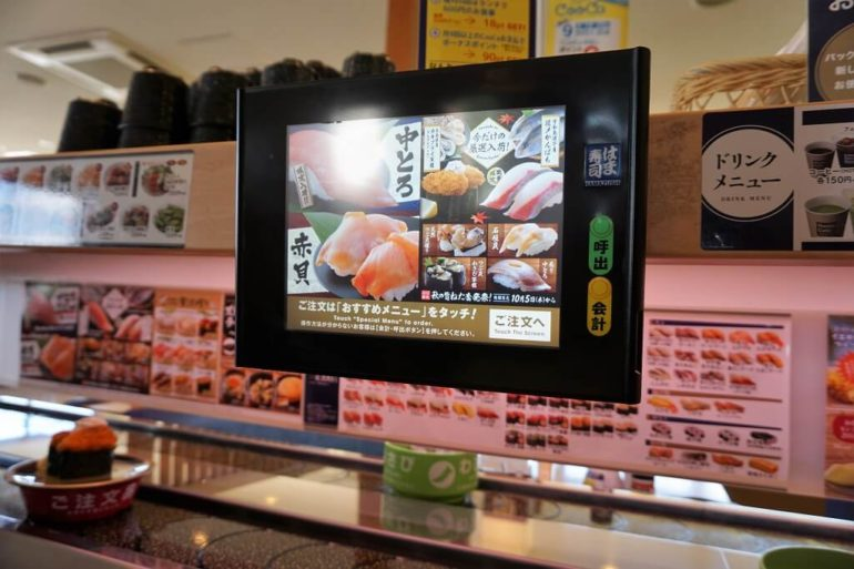 touchscreen sushi ordering