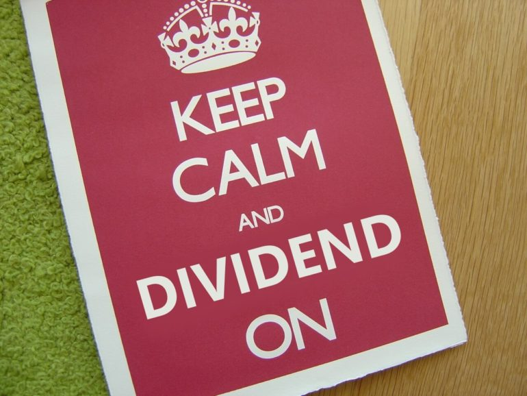 keep calm and dividend on