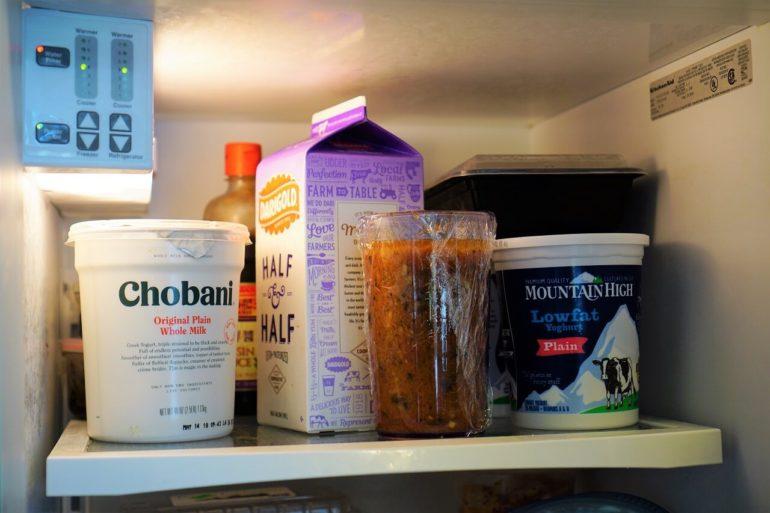 refrigerate salad dressing