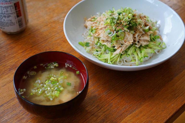 miso soup cold noodles