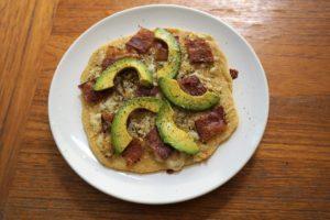 bacon avocado flatbread