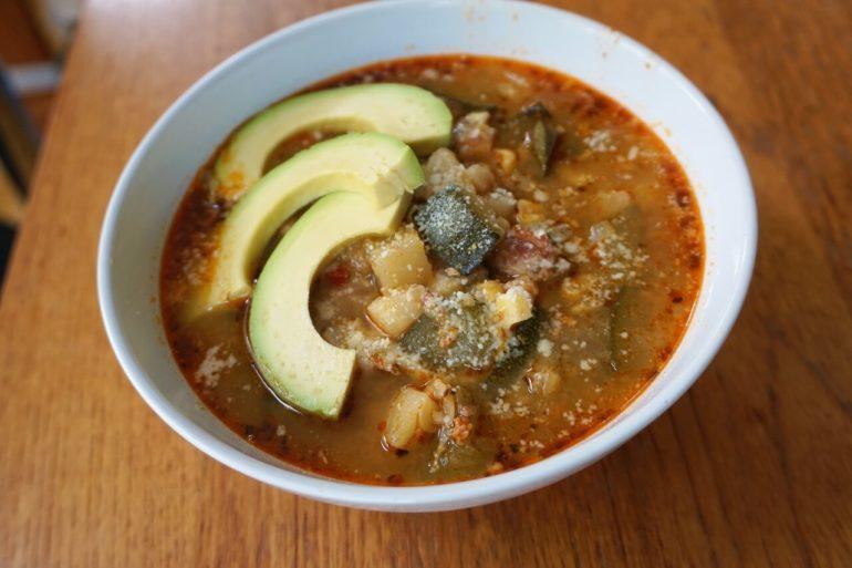 zucchini chorizo soup