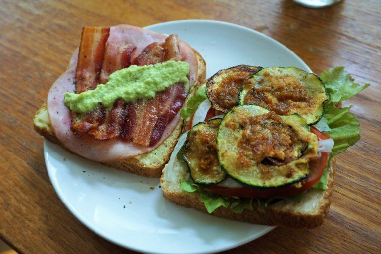 zucchini sandwhich