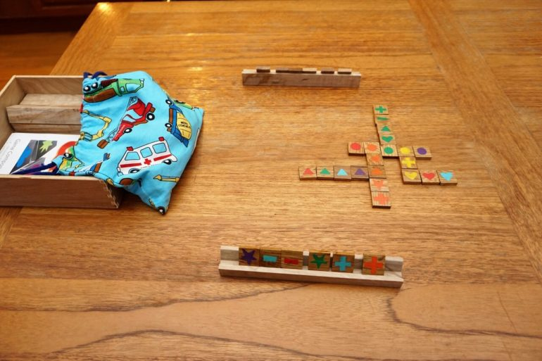 home made qwirkle game