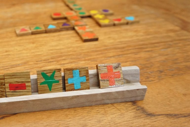 homemade qwirkle game