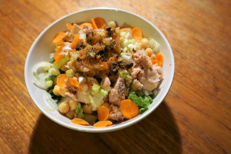 tuna salad with asian dressing