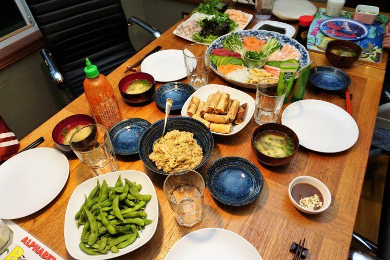 sushi party 2 Nov