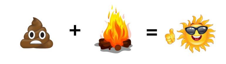 burn the poop