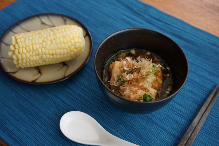 agedashi tofu meal