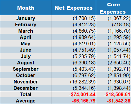 net expenses 2019