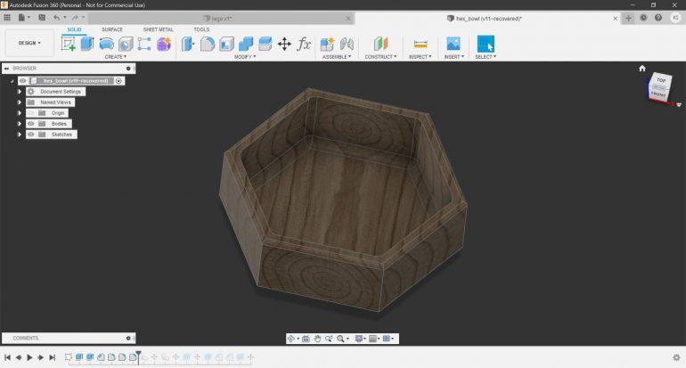 hex bowl CAD