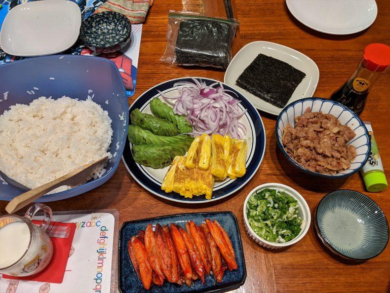 sushi fixings