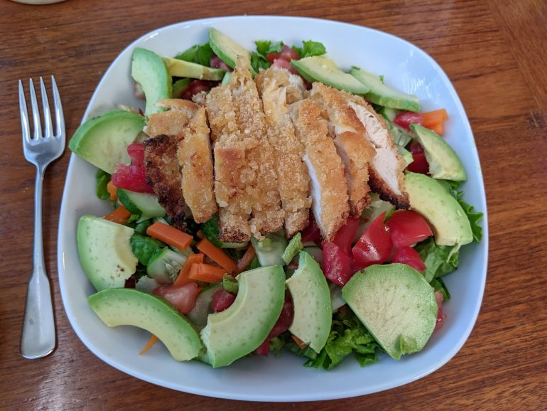 panko breaded chicken salad